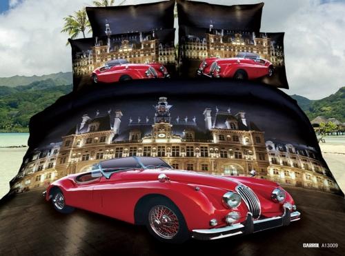 3D спално бельо RED CAR